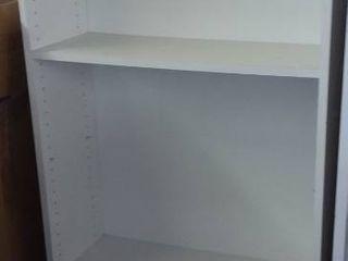 White 3 Shelf Bookcase 79 x 30 x 12 in
