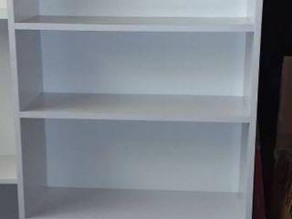 White 6 Shelf Bookcase 79 x 30 x 12 in