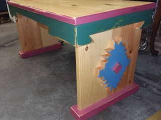 Wooden Native American Bench 18 x 36 x 16 in