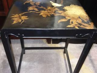 Small Black Side Table 23 x 18 x 14 in