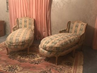 French Provincial louis XV Paloma Chaise lounge
