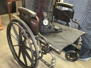 Invacare 21 in Wheelchair with Size MED Boot Brace