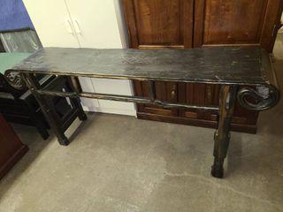 Black Wood Sofa Table 32 x 70 x 16 in