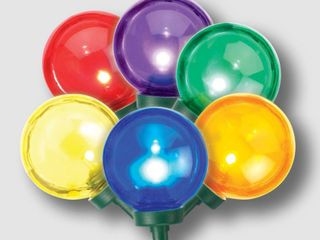 Philips 25ct Christmas lED G40 String lights Multicolored