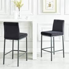 Diego 26  Counter Stool  Set of 2  Retail 296 99 black and grey