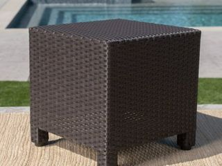 Puerta Outdoor Wicker Accent Side Table by Christopher Knight Home  Retail 99 49
