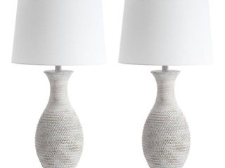 Safavieh lighting 30 inch Bentlee Grey lED Table lamp  Set of 2    15 x15 x30  Retail 154 99