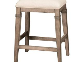 The Gray Barn Chatterly Backless Non swivel Counter Stool   18 5 W x 15 75 l x 25 25 H  Retail 108 49