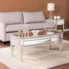 Silver Orchid Olivia Mirrored Cocktail Table  Retail 289 99