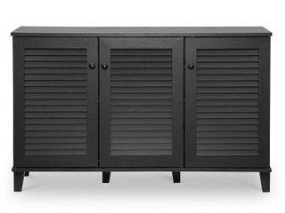 Porch   Den Espresso Wood 3 door Cabinet  Retail 183 99