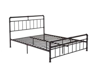 Mowry Industrial Queen Size Bed Frame only by Christopher Knight Home  Retail 206 99 hammered copper