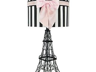 24 5  Eiffel Tower Table lamp with Bowknot Shade  Pink