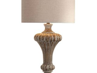 Uttermost Treneece Distressed Antique Grey 1 light Table lamp  Retail 281 60