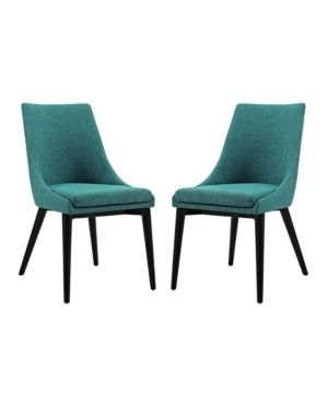Modway Viscount Rubberwood Dining Chair  Set of 2  Retail 316 99