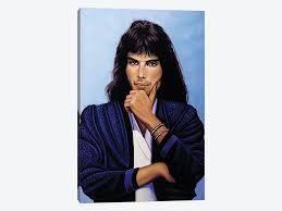 iCanvas  Freddie Mercury V  by Paul Meijering Gallery Wrapped Canvas Print