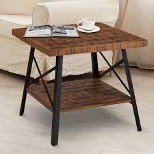 Carbon loft Enjolras Wood  Steel End Table  Retail 129 49