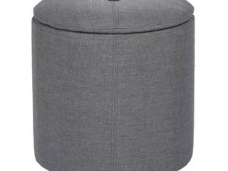 Copper Grove Vaasa Faux leather and Fabric Storage Ottoman