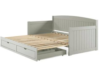 Harmony Daybed bed rails post slats and hardware only dove gray