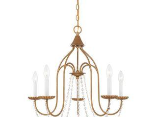 livex lighting Alessia 5 light Chandelier   24 Dia  x 23 H  Retail 219 90