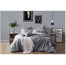 All Natural luxurious Soft Prewashed Yarn Dye Cotton Chambray Duvet Cover Set  Retail 86 64