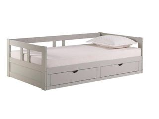 Melody Expandable daybed drawers side rails and guardrails only dove grey