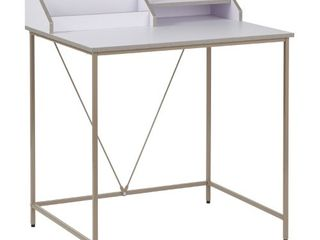 Quincy Desk White Gray   Buylateral
