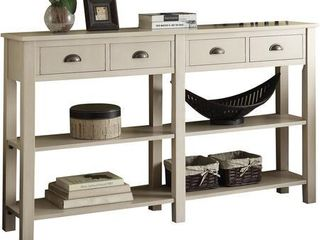 Acme Furniture Galileo white Wood Console Table  Retail 332 99