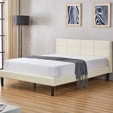 Shuffler Upholstered Platform Bed  Retail 239 49 white queen