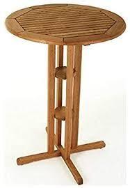 international caravan acacia americans 33 inch round bar height table oil acacia stain