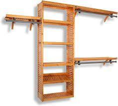 john louis home real red wood racks shelves 12 inch deep 8 ft set of 2