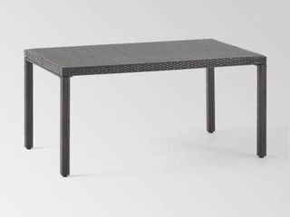 Rhode Island Outdoor Wicker Rectangular Dining Table  ONlY  by Christopher Knight Home  Retail 281 99