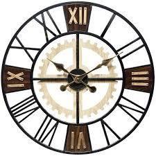 Graham 24 inch Decorative Roman Numeral Wood Wall Clock   24 inch