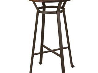 Glitzhome Farmhouse Elm Wood Top Steel Pub Bar Table  Retail 169 49