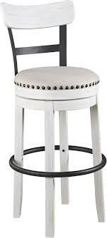 valebeck counter height swivel barstool brushed white