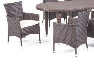 Vincent Outdoor chairs set of 2 only multi brown and beige