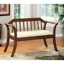 The Gray Barn Pitchfork Padded Wood Bench  Retail 302 99 cream