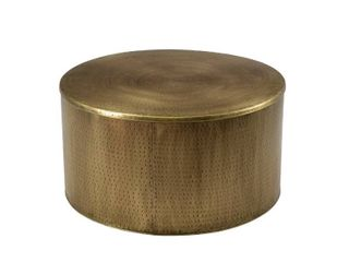 Rhu Home Drum Alevi Gold drum Coffee Table   36  Retail 443 49