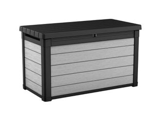 Keter Denali DUOTECH 100 Gallon Plastic Resin Deck Box  Retail 162 99