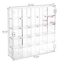 Mountable 25 Compartments Display Case Cabinet Stand