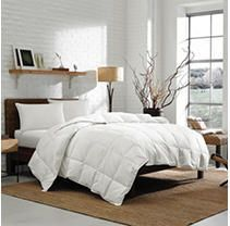 Eddie Bauer 700FP White Goose Down Damask Cotton Oversized Comforter  Retail 239 99