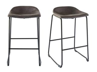 Picket House Furnishings Galloway Metal Bar Stool  Set of 2  Retail 146 99