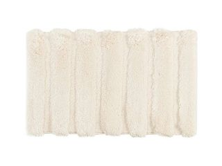 17 x24  Tufted Pearl Channel Solid Bath Rug Beige