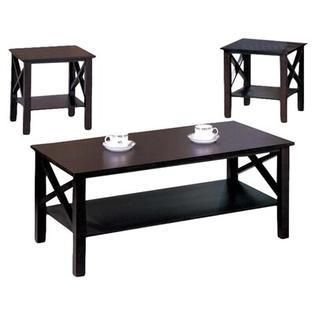 K B 3 piece Merlot Finish Cocktail End Tables Set  Retail 187 49
