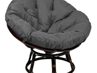 Classic Accessories Montlake Water Resistant 50 Inch Papasan Cushion only Retail 183 99 gray