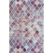 Rhapsody Collection Modern Geometric Trellis Multi Colored Area Rug by Mod Arte