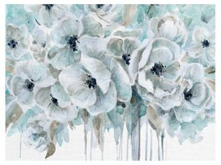 Teal Poppy Harmony II by Carol Robinson Wrapped Canvas Painting Art Print  Retail 91 49