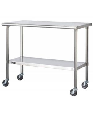 Trinity Stainless Steel Table with Caster Kit  Retail 198 99