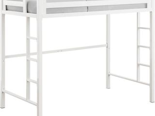 WE Furniture Murdock Metal loft Bed  Twin  White