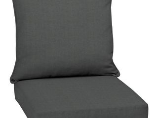 Arden Selections Slate Canvas Texture Outdoor Deep Seat Set   46 5 in l x 25 in W x 6 5 in H