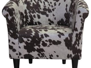 The Gray Barn Goddard Cowhide Print Accent Chair  Retail 179 99